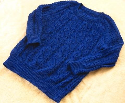 03#7 Long Lace Sweater