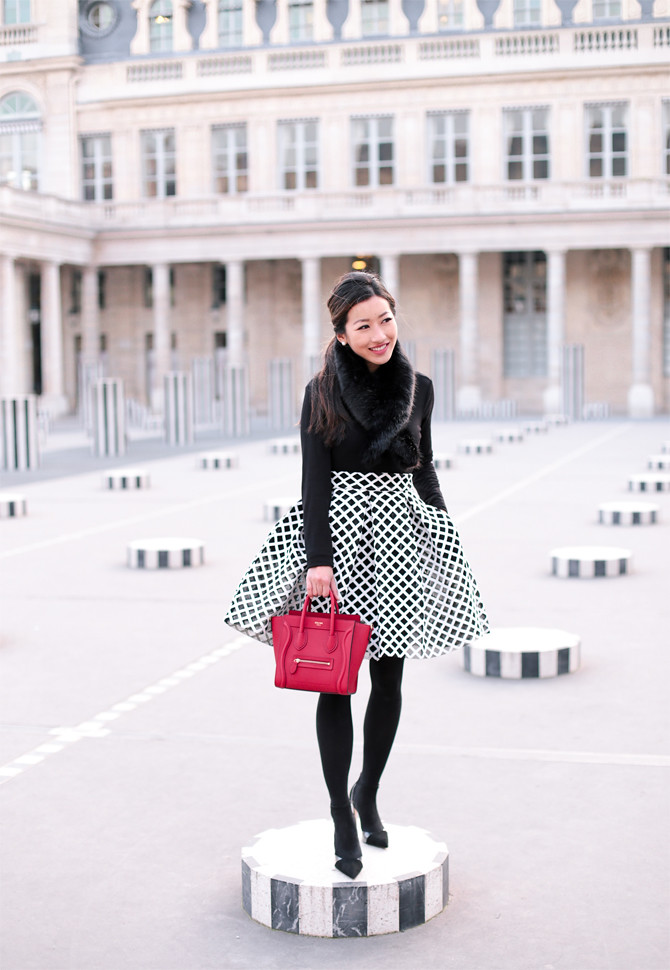 paris photo spots palais royal french winter fashion