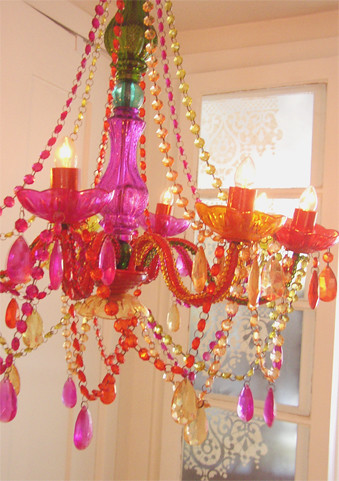 my aunt's new fantastic (plastic !) chandelier | by Liquid Sky Arts