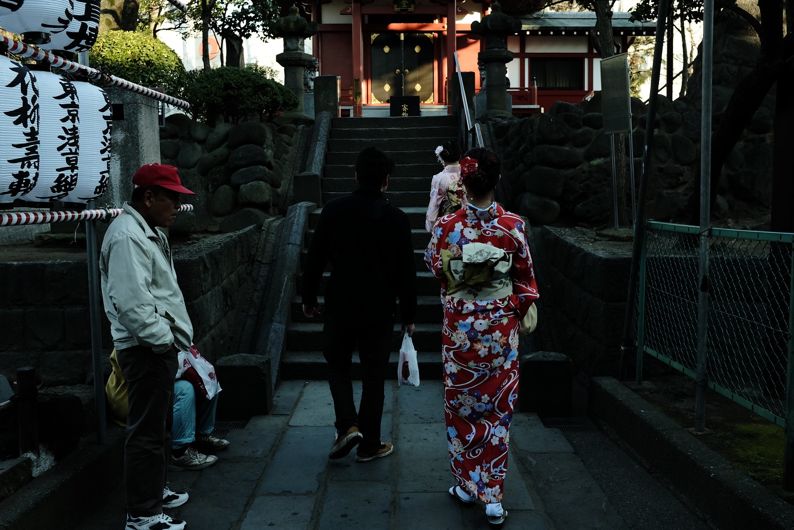 The Asakusa new year by FUJIFILM X100S.