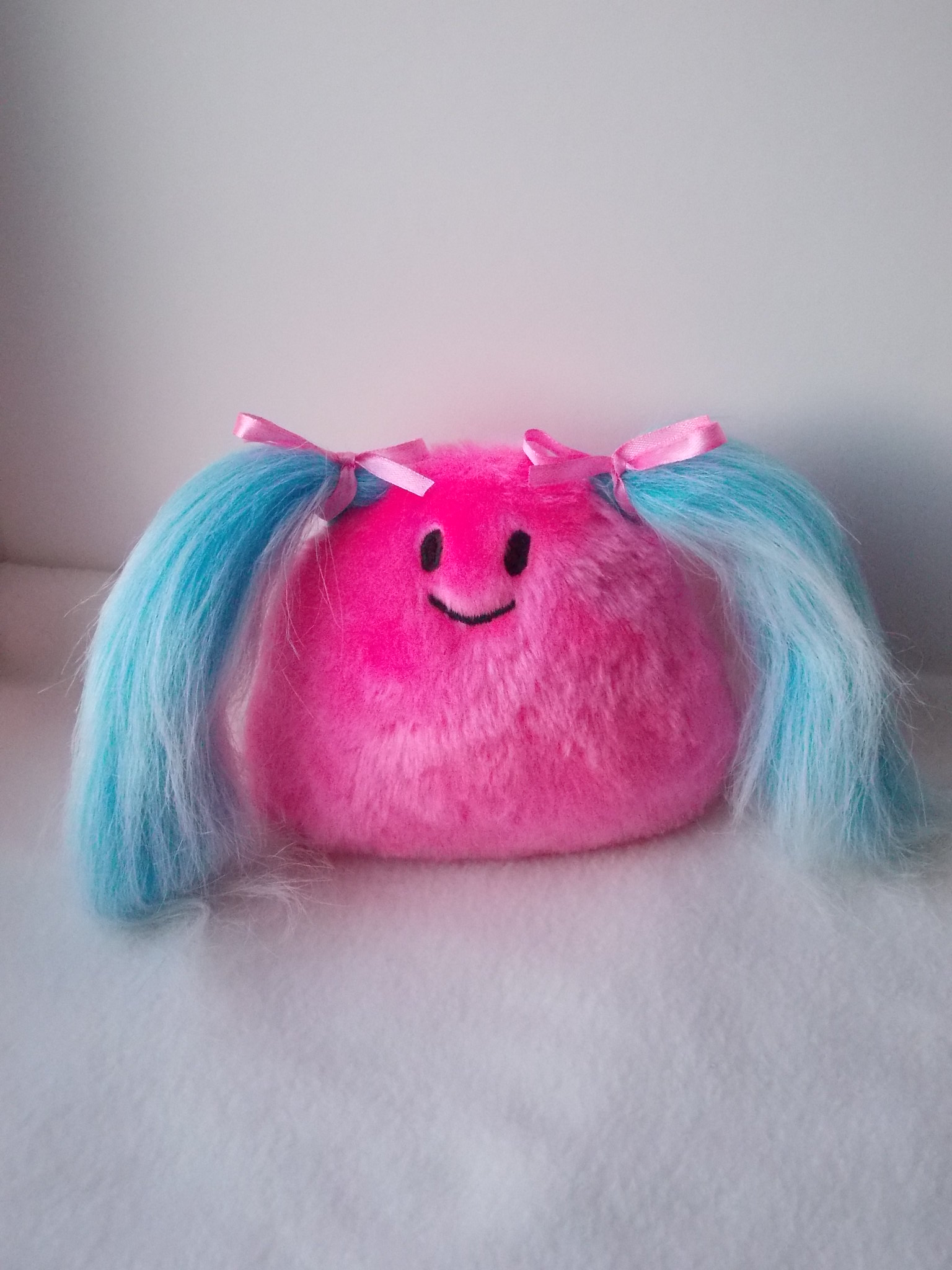 Cute toy, cute monster, kawaii monster, kawaii princess, pink blue toy, blue hair toy, blue hair princess, warm fuzzies 35