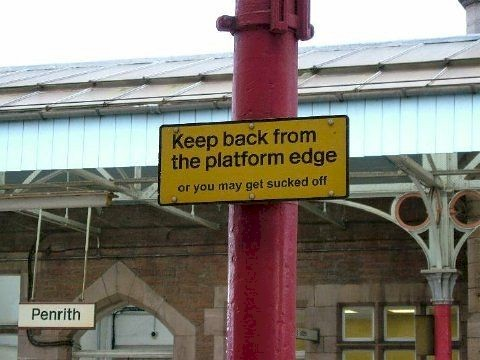 Keep back from the Platform Edge | by Annie Mole