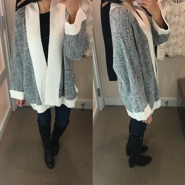 LOFT Two Tone Kimono Cardigan, size XS-S regular