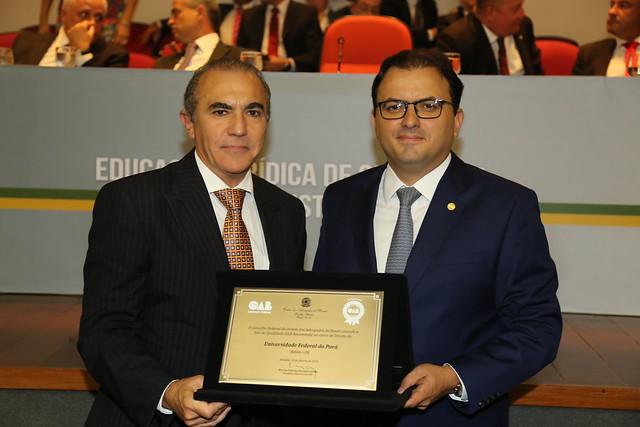 Um gentlman no IHGP,Antônio José de Mattos Neto e o presidente da oab