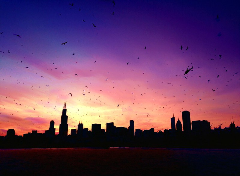 Sunset timestack