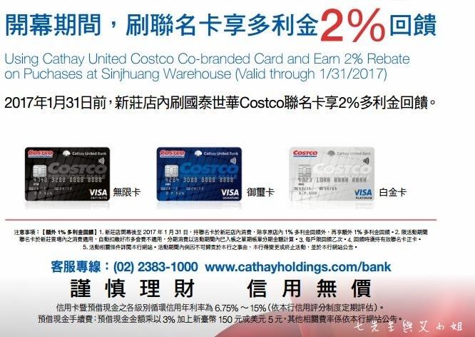 13 新莊好市多 Costco 開幕購物好禮-刷卡優惠2%