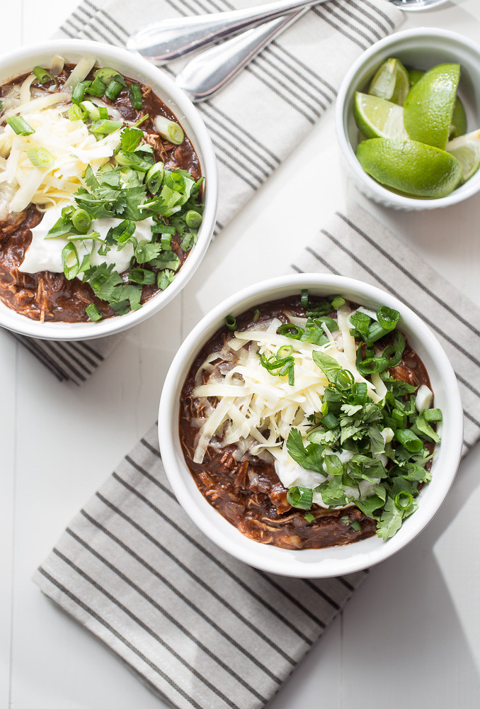 Crock Pot Mole Chicken Chili