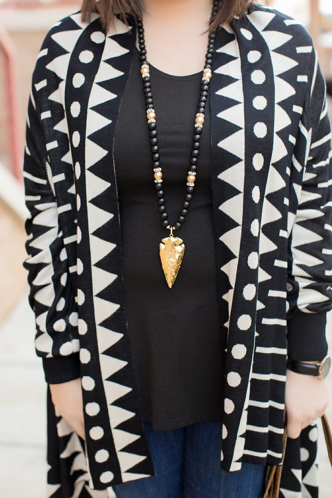 Tribal Cardigan-@akeeleywhite-Head to Toe Chic