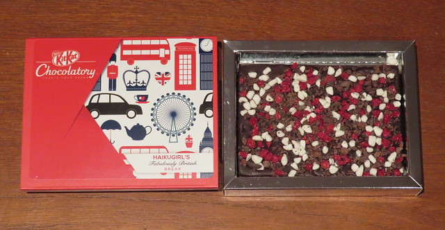 London Kit Kat Chocolatory - Haikugirl's Fabulously British Break (Dried Raspberries, Luscious Meringue & Crushed Cocoa Nibs)