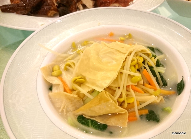 Bean curd and vegetables