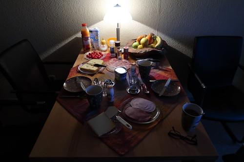 Frühstück bei einer Freundin