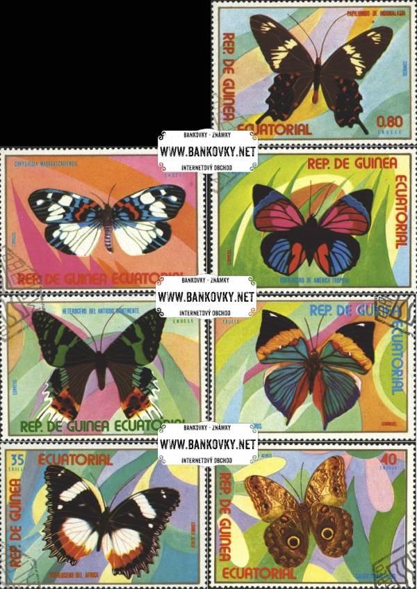 Známky Rovníková Guinea 1976 Motýle, razítkovaná séria