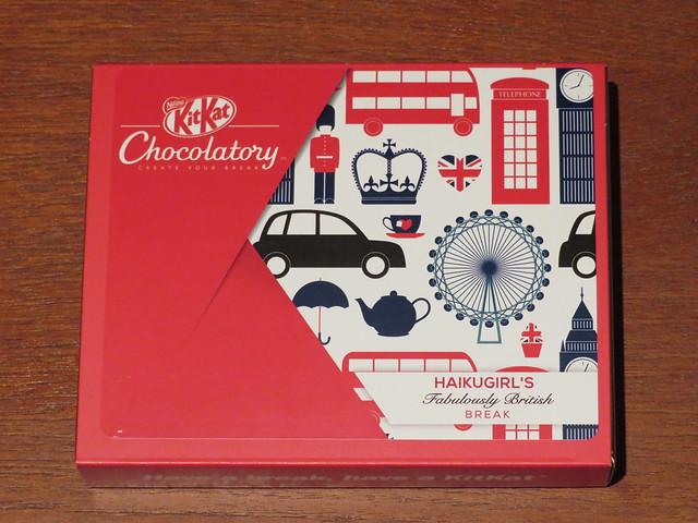 London Kit Kat Chocolatory - Haikugirl's Fabulously British Break (Dried Raspberries, Luscious Meringue & Crushed Cocoa Nibs)