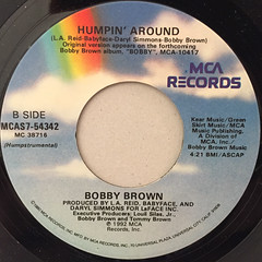 BOBBY BROWN:HUMPIN' AROUND(LABEL SIDE-B)