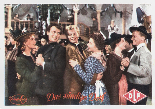 Renate Mannheim, Thomas Reyer, Albert Rueprecht and Hanna Hutten in Das Sündige Dorf (1954)