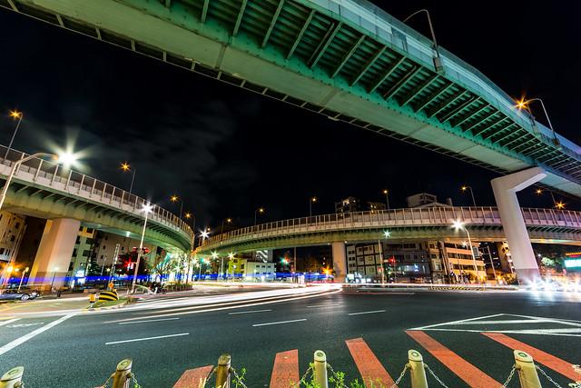名古屋・東片端ジャンクションの夜景の写真