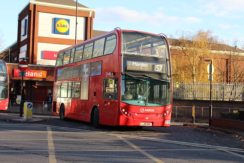 Arriva London T128 on Route 157, Morden Station