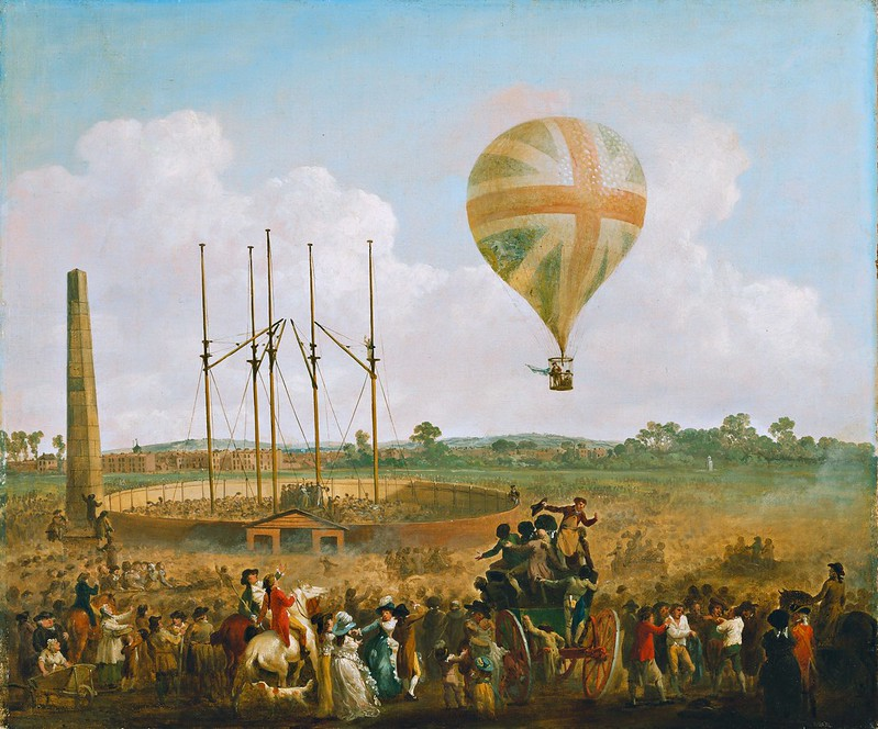 Julius Caesar Ibbetson - George Biggins' Ascent in Lunardi' Balloon (1785)