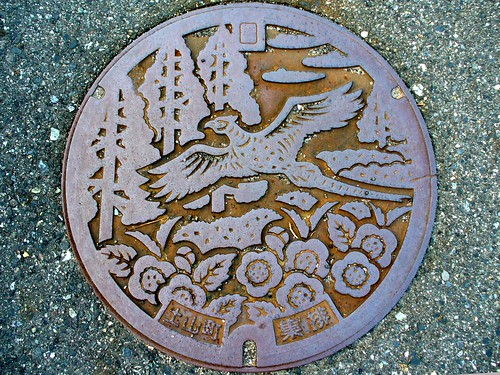 Tsuchiyama Shiga, manhole cover (滋賀県土山町のマンホール)