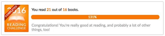 I read 21 books in 2015!
