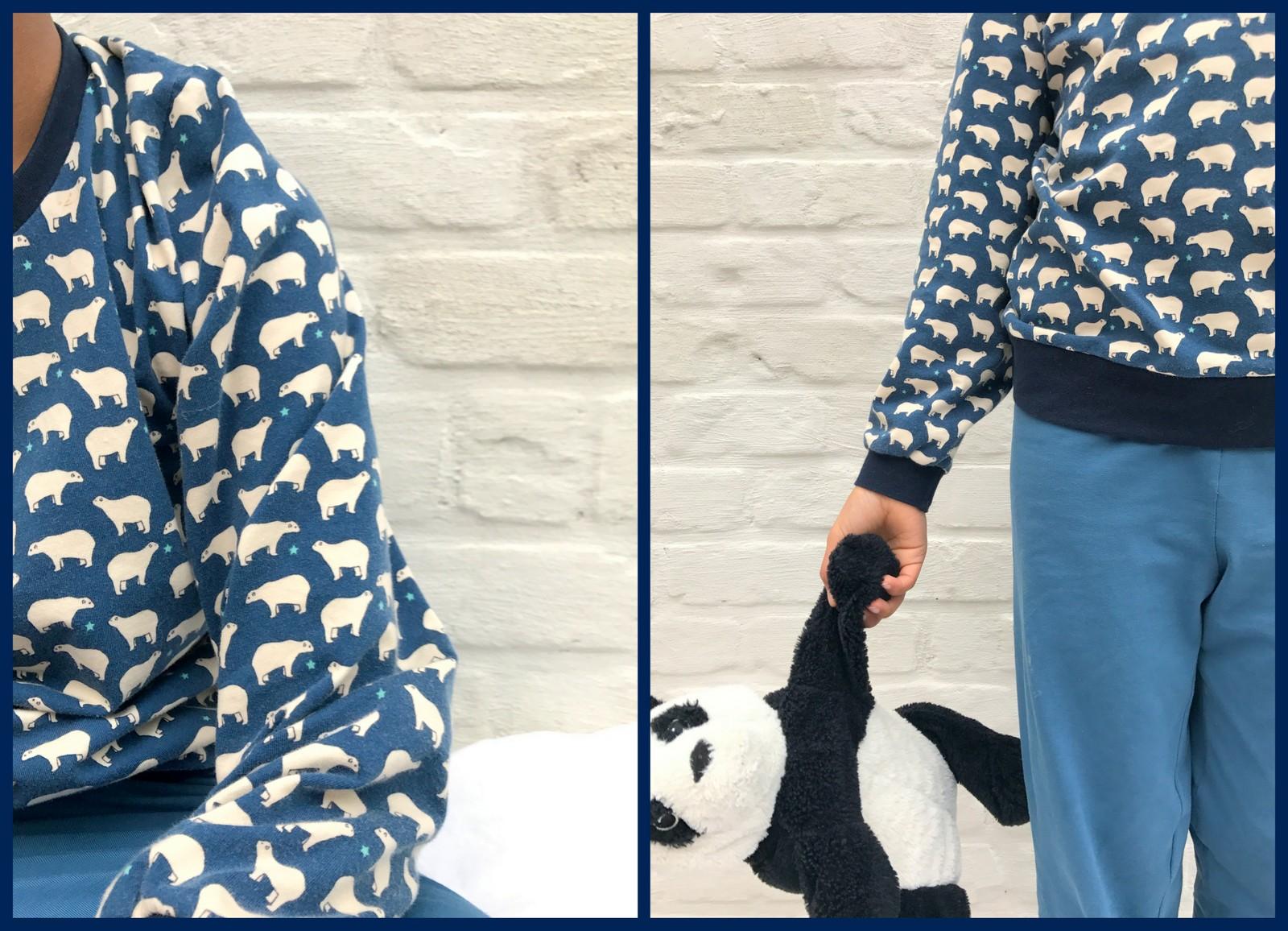 ijsbeer pijama (collage)