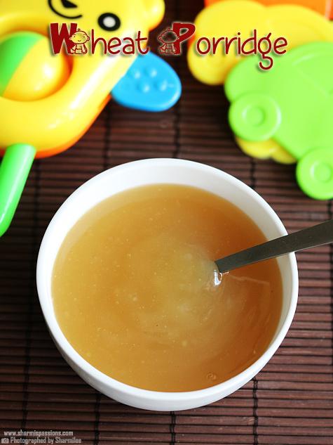 Whole Wheat Milk Porridge For Babies Godhumai Paal Koozh