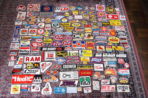 Vintage car racing sticker collection | by aefitzhugh
