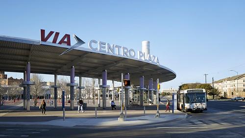 Via Centro Plaza transit station signage