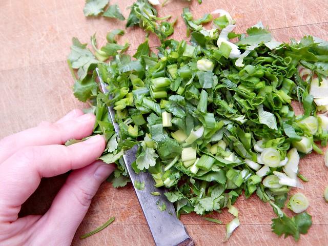 лук с кинзой | green onions and silantro