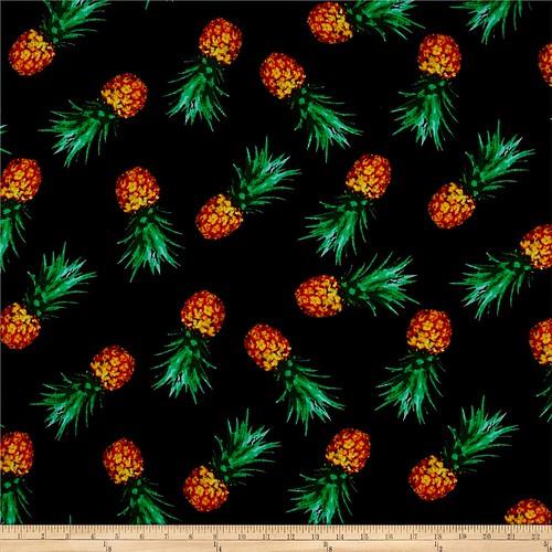 Pineapple rayon crepe