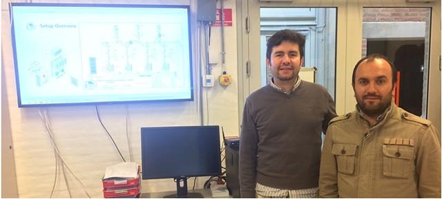 Oswaldo López en lab de la U d Aalborg