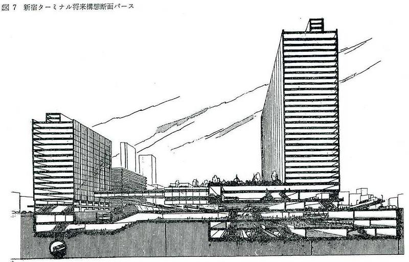 大新宿構想時代の上越新幹線新宿駅地下ホーム (17)