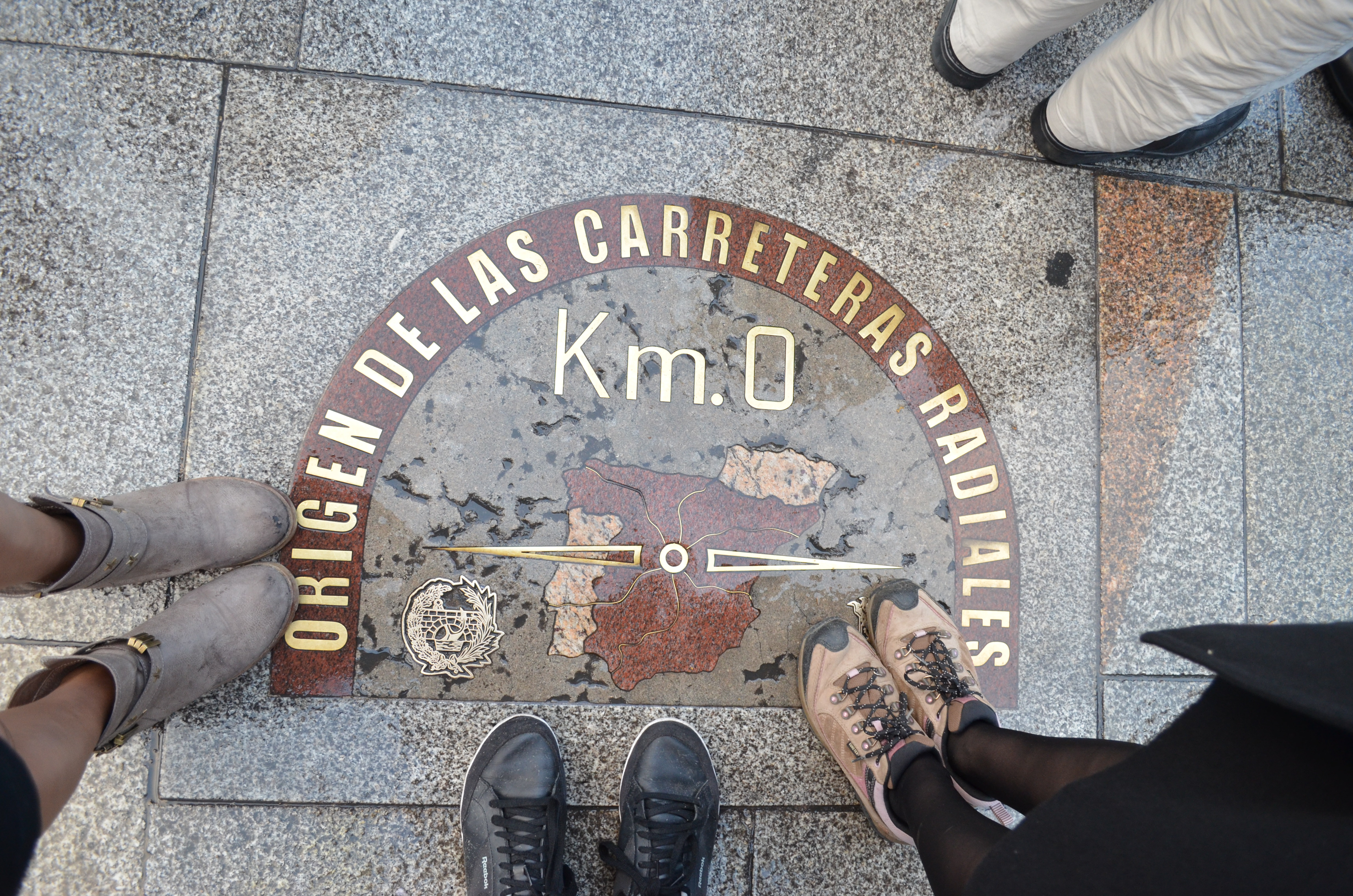 Quilómetro Zero, Puerta del Sol, Madrid