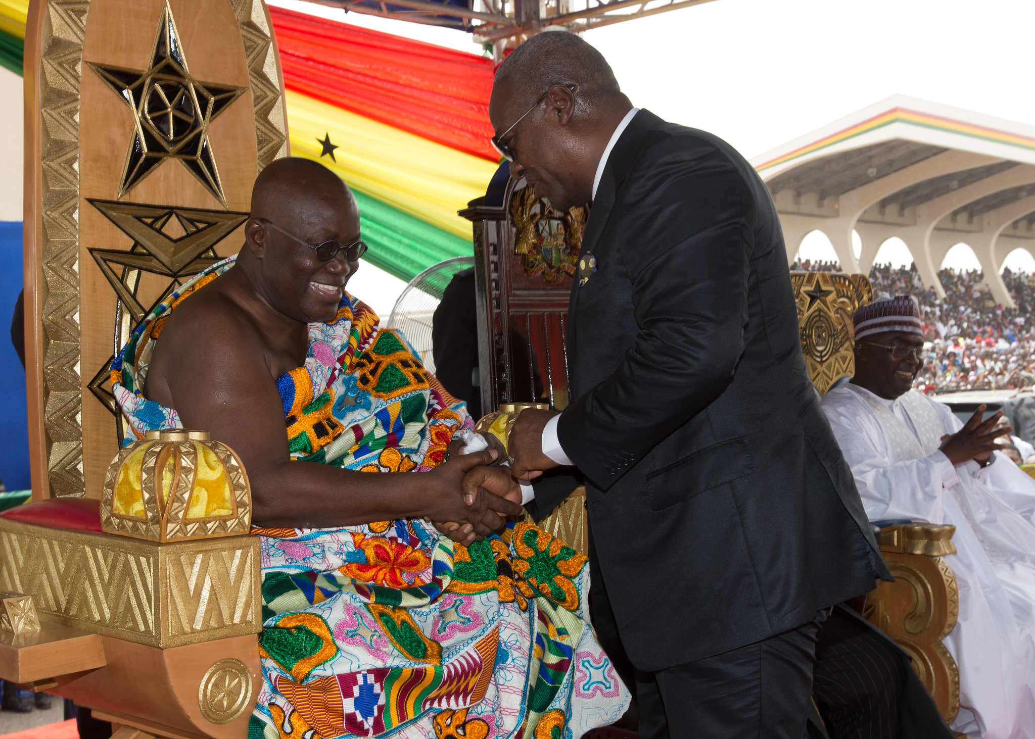 President John Mahama attends the inauguration of his successor, President Nana Addo Dankwa Akuffo Addo at the Independence Square