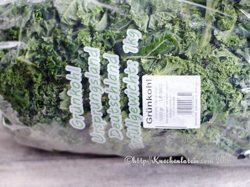 Bag of curly kale
