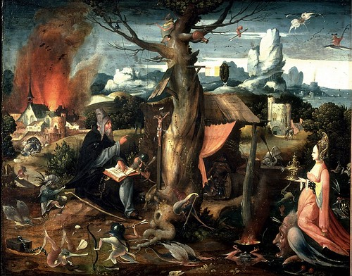 Temptation of St. Anthony painting by Hieronymous Bosch