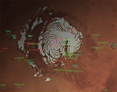 Mars North Pole with Labels | by FlyingSinger