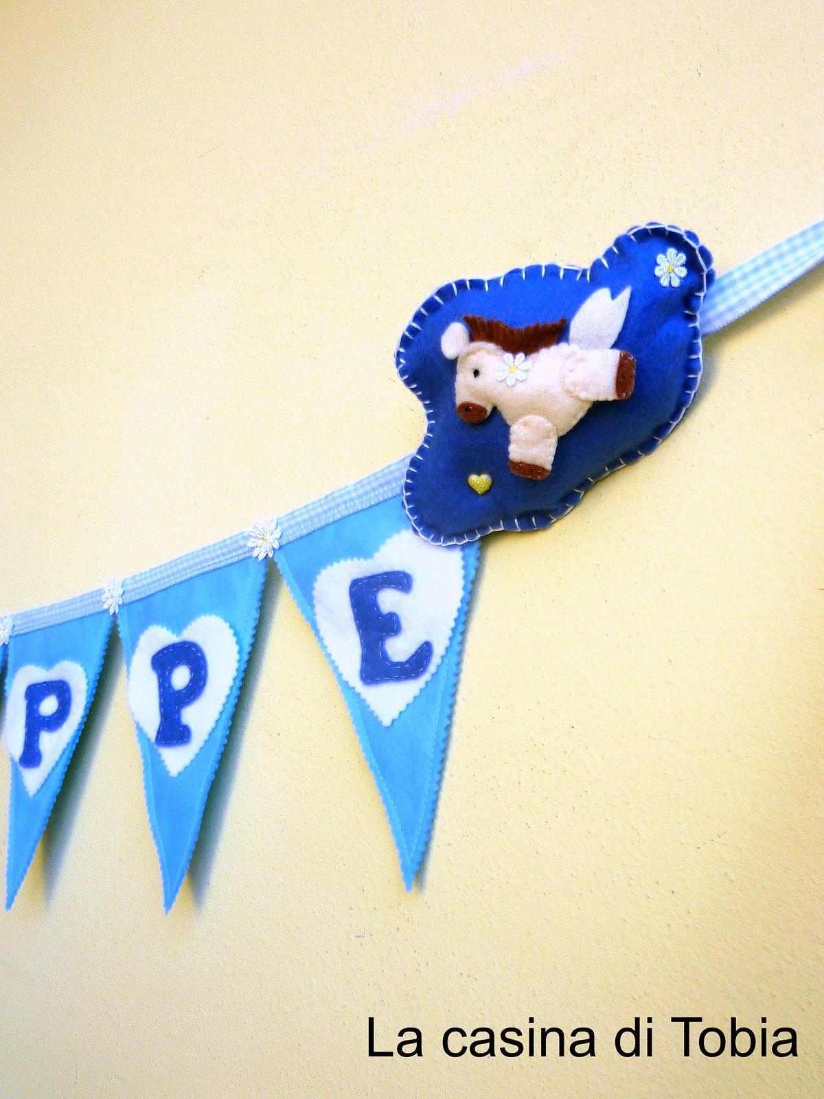 Bunting Bandierine bambino per feste, compleanni e battesimi