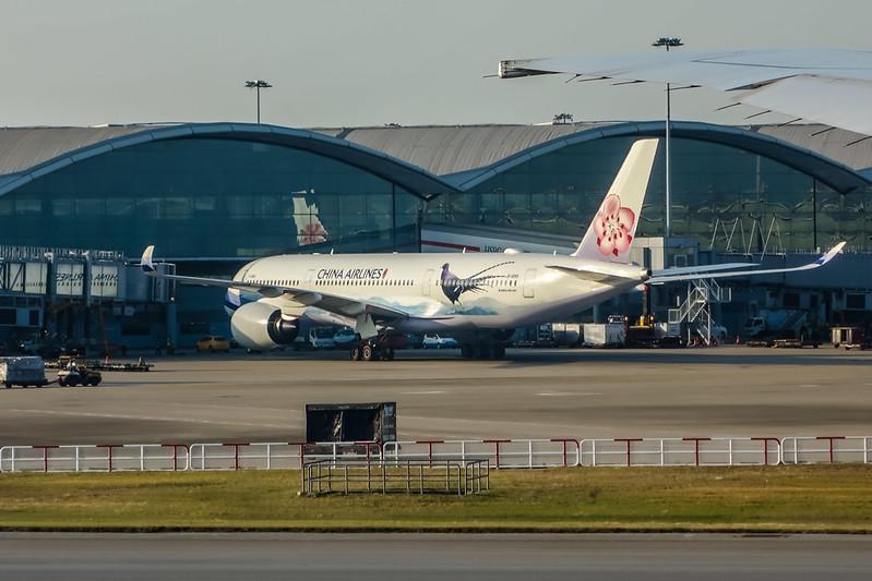 B-18901 帝雉號 CHINA AIRLINES 中華航空 華航 Airbus A350-900 紅梅揚姿
