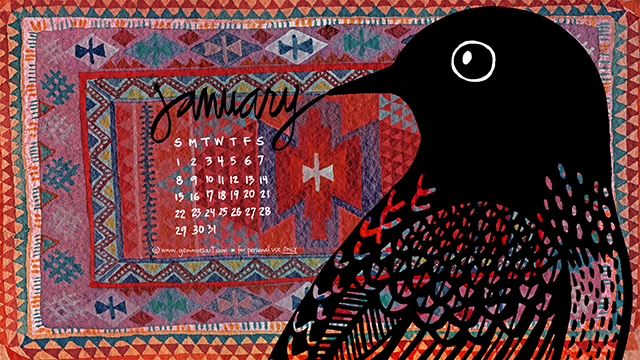 January 2017 Desktop Calendar