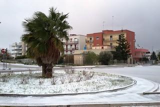 Noicattaro. Nevicata 7 Gennaio 2017 front