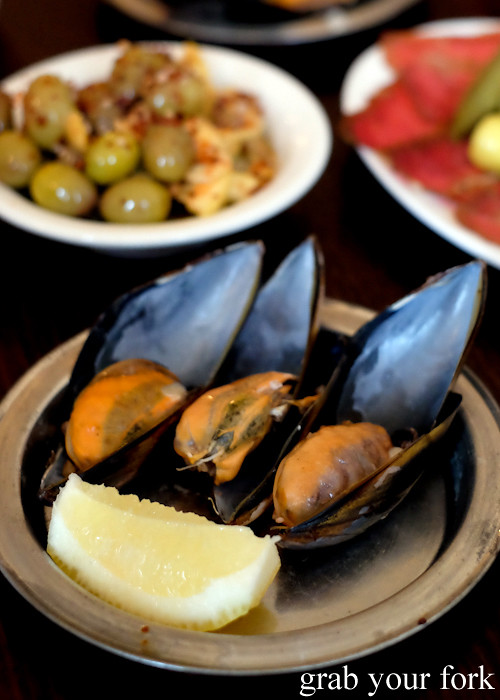 Midye dolma mussels stuffed with rice at Stanbuli in Enmore