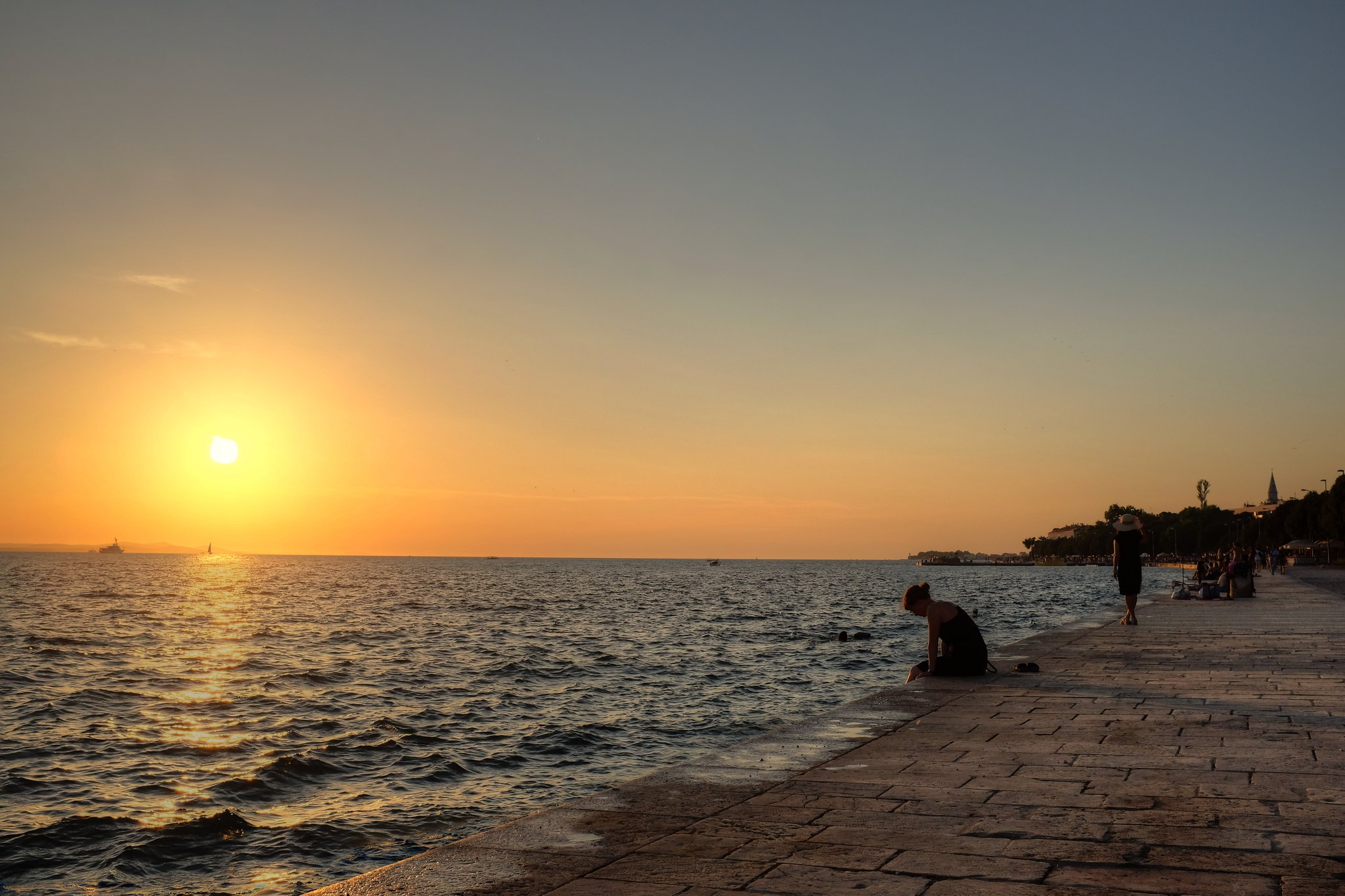 Sunset at Zadar, Dalmatia, Croatia