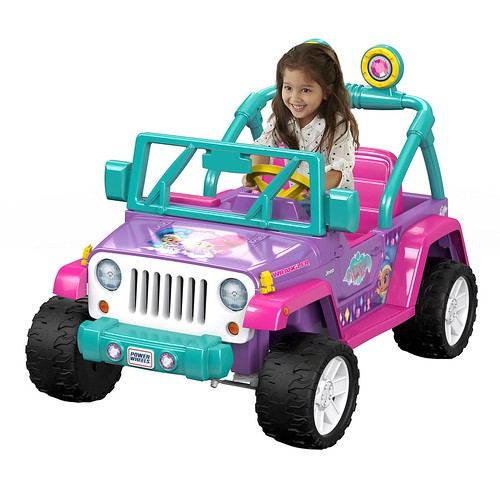 Power Wheels Shimmer Shine Jeep Wrangler Carro Juguete Nina Wimka