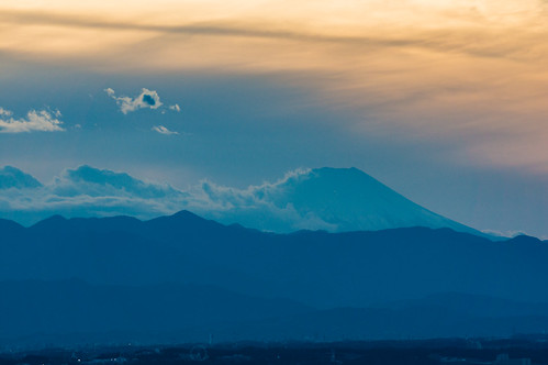 Dusk of Mt. Fuji