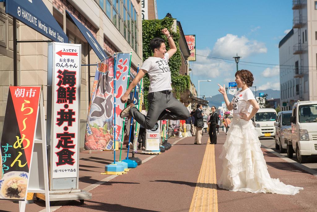 北海道函館朝市婚紗,市場婚紗
