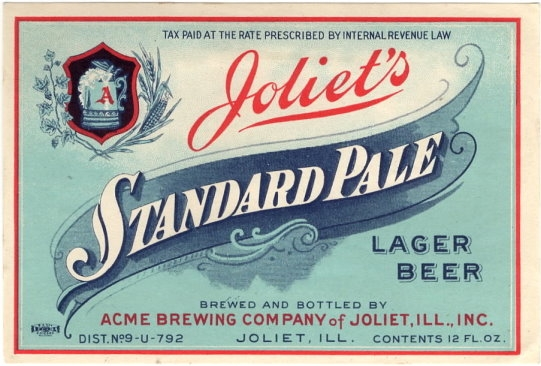 Joliets-Standard-Pale-Lager-Beer-Labels-Acme-Brewing-Company