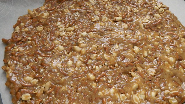 Salted Peanut Pretzel Toffee 15