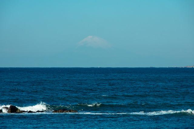 房総半島から富士眺望