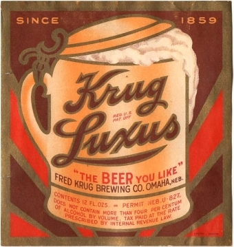Krug-Luxus-Beer--Labels-Fred-Krug-Brewing-Company